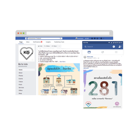 Think for Kids Facebook Marketing